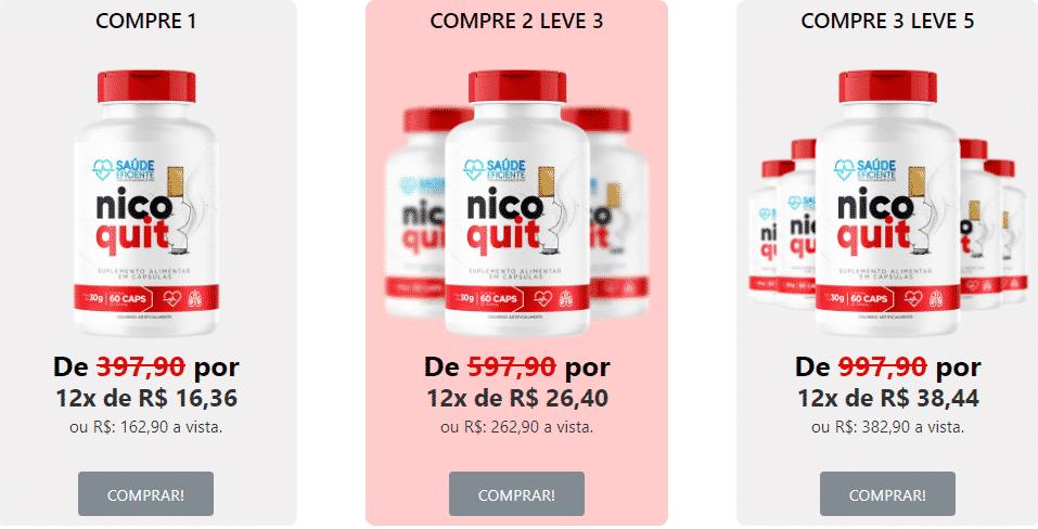 NicoQuit Caps Preço