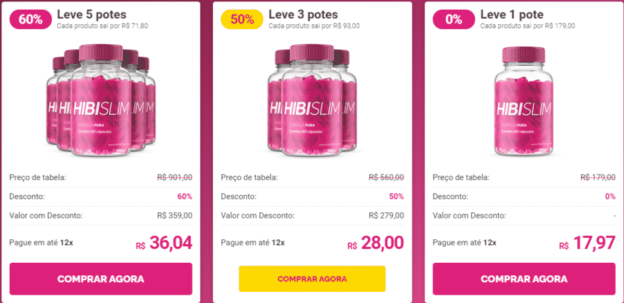 HibiSlim Preço